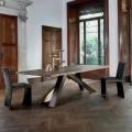 Bonaldo Big Table masivní dřevěný stůl z přírodních hran vyrobených v Itálii