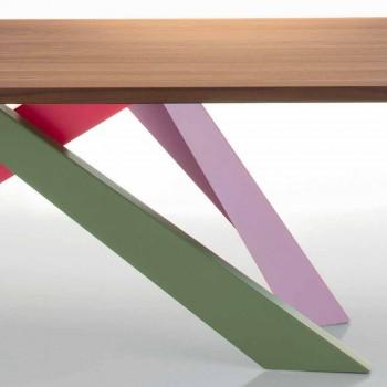 Bonaldo Big Table z masivního amerického dřeva z ořechového dřeva vyrobeného v Itálii