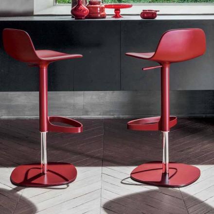 Bonaldo Bonnie otočná nastavitelná ocelová stolička vyráběná v Itálii Bonnie