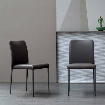 Designová židle Bonaldo Deli s čalouněným sedákem vyrobeným v Itálii