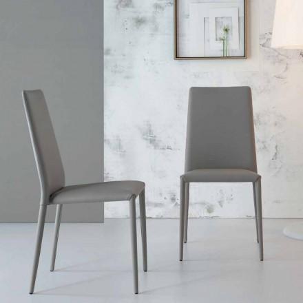 Moderní designová židle Bonaldo Eral čalouněná kůže vyrobená v Itálii