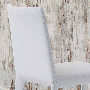 Bonaldo Filly čalouněné designové židle v bílé kůži vyrobené v Itálii