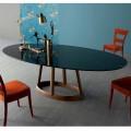 Bonaldo Greeny design oválný stůl v Marquinia mramoru vyrobeném v Itálii