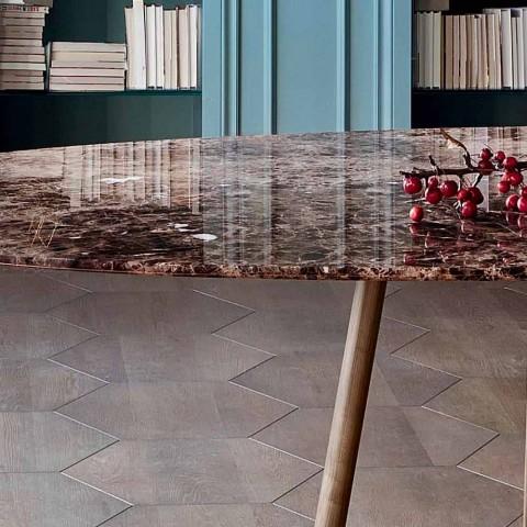 Bonaldo Greeny kulatý stůl design mramor Emperador z Itálie