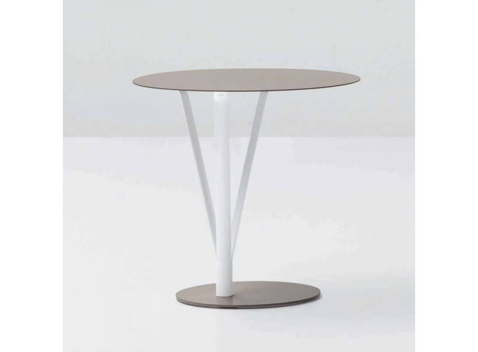 Bonaldo Kadou designová stůl lakovaná ocel D50cm vyrobená v Itálii