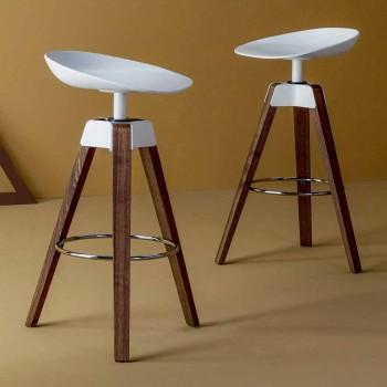 Bonaldo Pevná stolička z ocelového a dřeva vyrobená v Itálii
