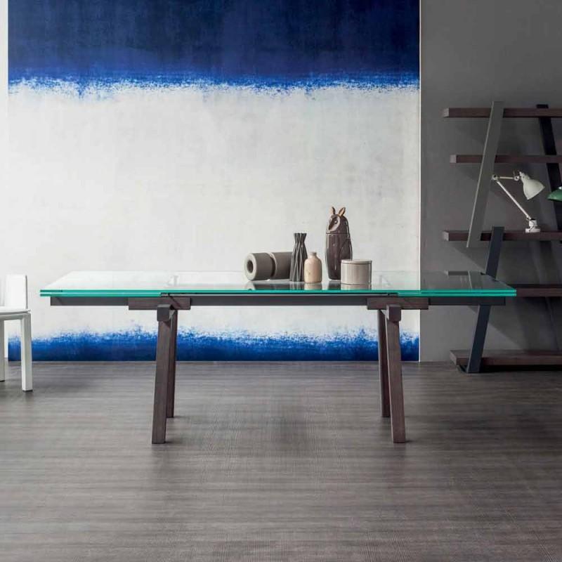 Bonaldo Tracks rozkládací křišťálový jídelní stůl vyrobený v Itálii