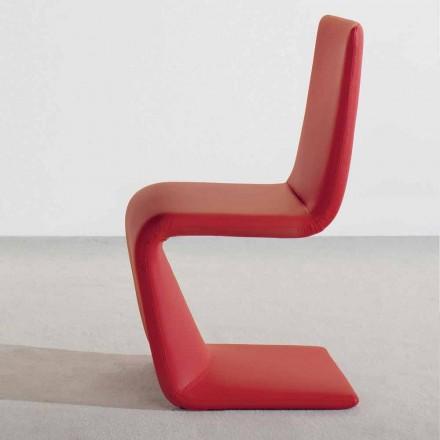Moderní designová židle Bonaldo Venere čalouněná kůže vyrobená v Itálii