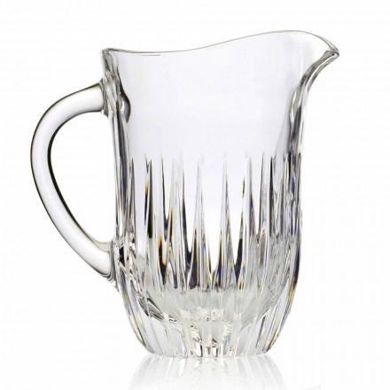 Džbán Eco Crystal s řemeslnou dekorací, italský luxus, 2 kusy - Voglia