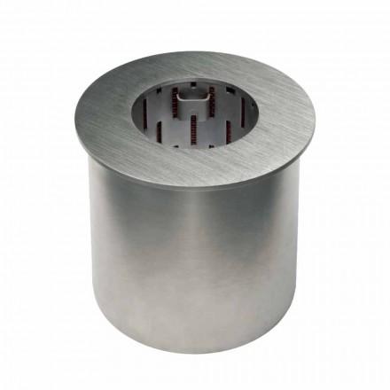 Kruhový hořák ze saténové oceli pro krb s bioethanolem - Griff12