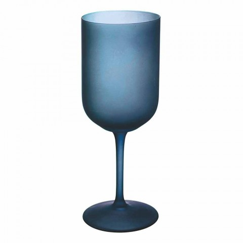 Barevné sklenice na víno v matné sklenici s ledovým efektem 12 kusů - Norvegio