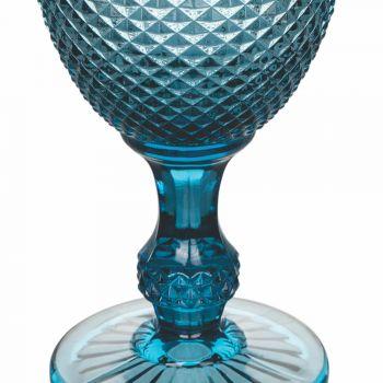 Barevné a zdobené sklenice na vodu nebo víno 12 kusů - pastilka