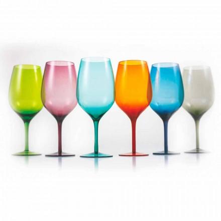 Sklenice na víno bílé nebo červené barvy ve skle 3 varianty 12 kusů - Aperi