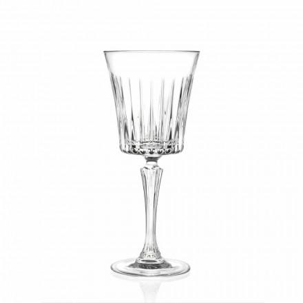 Luxusní design sklenic na víno a koktejl z eko křišťálu 12 kusů - Senzatempo