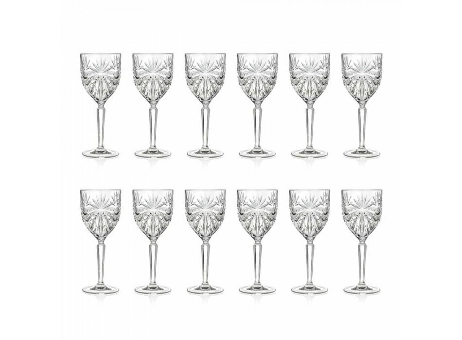 12 kusů ekologických křišťálových sklenic na víno nebo na vodu - Daniele