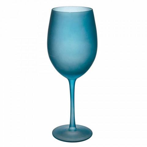 Barevné sklenice na víno v matné sklenici s ledovým efektem, 12 kusů - podzim
