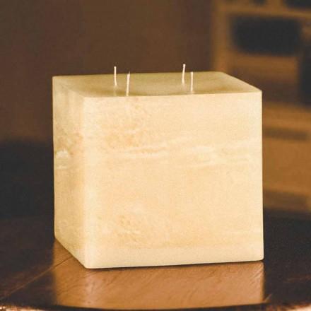 Čtvercová ručně vyráběná moderní vosková svíčka vyrobená v Itálii - Mondeo