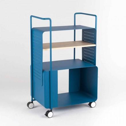 Designový vozík z oceli s popelem vyrobený v Itálii - Murella