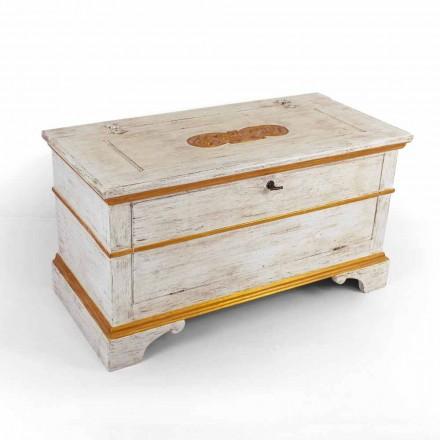 Hrudník vyrobený ručně z masivního dřeva se zlatými profily vyrobenými v Itálii - Caio