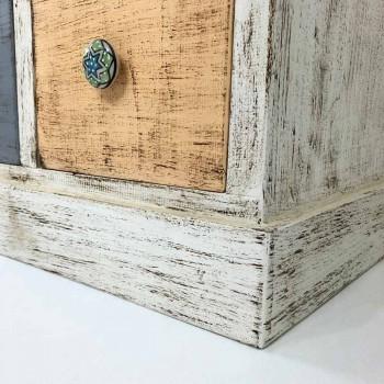 Artisan komoda z masivního dřeva s 9 zásuvkami vyrobenými v Itálii - Pierrot