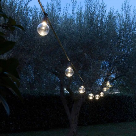 Neoprenový venkovní kabel s 8 LED žárovkami v ceně Made in Italy - Party