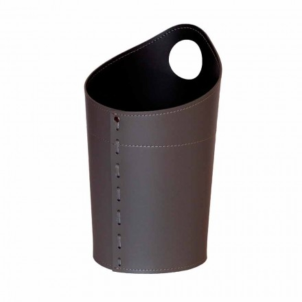 Recyklovaný odpadový koš na papír v ruční kůži Ambrogio