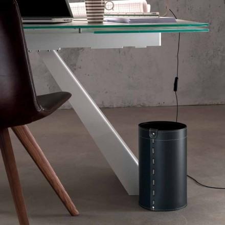 Košík odpadního papíru v regenerované ruční kůži Battista