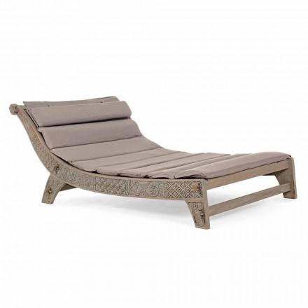 Venkovní Teak Wood Chaise Longue s Homemotion Inlay - Giobbe