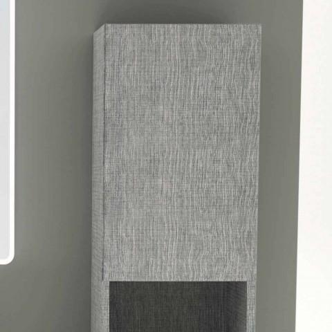 Amanda dvoudveřová koupelnová sloupka v moderním designu z ekologické kůže vyrobená v Itálii