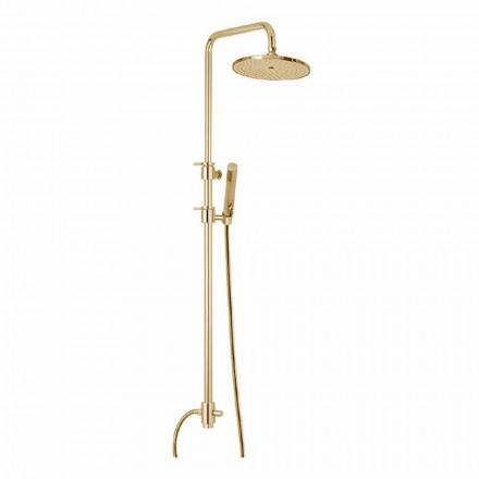Mosazný sprchový sloup s abs sprchou a sprchovou hlavicí Made in Italy - kapuce