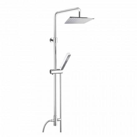 Sprchový sloupek z mosazi se sprchovou hlavicí a ruční sprchou v Abs vyrobené v Itálii - Lesio