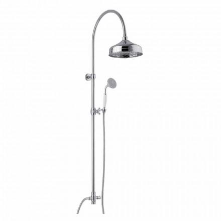 Mosazný sprchový sloup se sprchovou hlavicí a ruční sprchou Abs vyrobený v Itálii - Rimo
