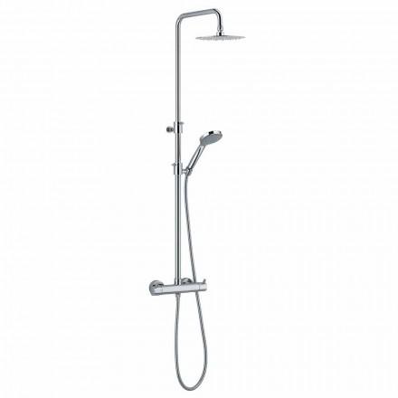 Sprchový sloup z chromované mosazi s kulatou sprchovou hlavicí Made in Italy - Griso