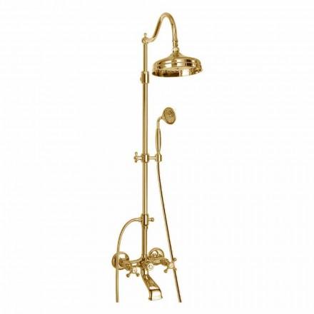 Nastavitelný mosazný sprchový sloup s koupelnovou skupinou Made in Italy - Fedrio