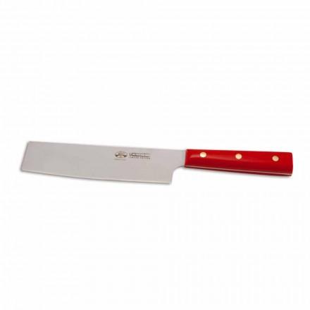 Nůž na zeleninu Berti z nerezové oceli Nakiri exkluzivně pro Viadurini-Biango