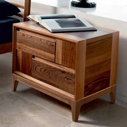 Dresser 2 dřevěné šuplíky moderní design pevné ořech, Nino