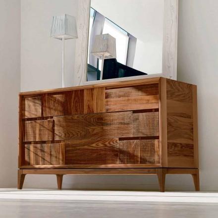 Dresser 3 zásuvky moderní design z masivního ořechu, Nino
