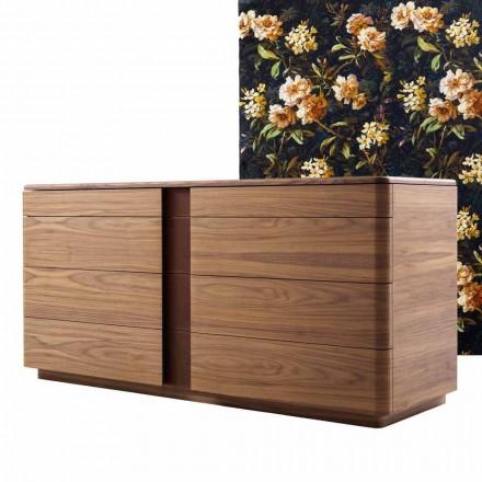 Skříň z masivního dřeva a designová kůže Grilli York vyrobená v Itálii