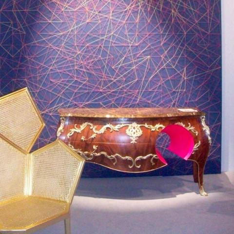 Dresser v mramoru a dekoracemi v ottore designem, vyrobený v Itálii, Gildo