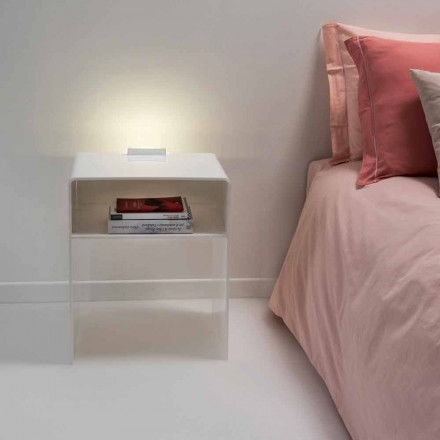 Noční stolek s bílým LED světla svítí dotykové Adelia