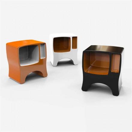Designový noční stolek v katodickém pevném povrchu vyrobeném v Itálii