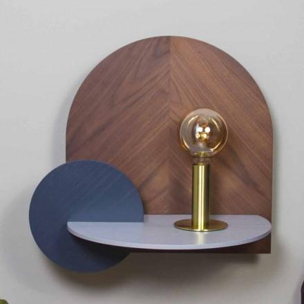 Moderní designový noční stolek skládající se ze 3 modulárních překližkových panelů - Marea
