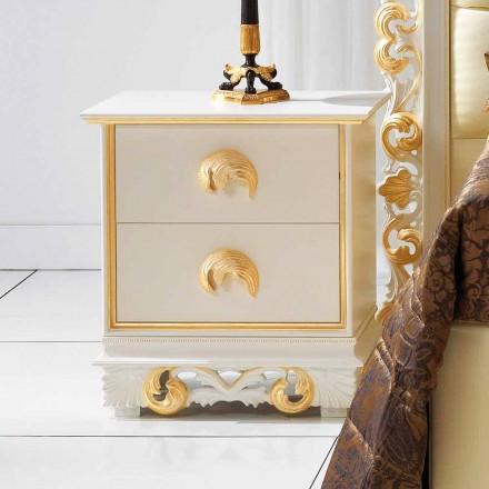 navrhovat noční stolek ve dřevě se 2 zásuvkami ZUCCHI, vyrobený v Itálii