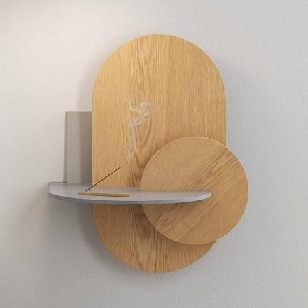 Noční stolek z překližky složený ze 3 modulárních panelů moderního designu - Zita