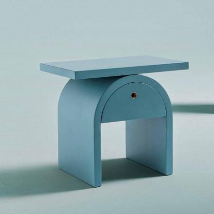 Moderní designový noční stolek z barevného dřeva do ložnice - Arcom