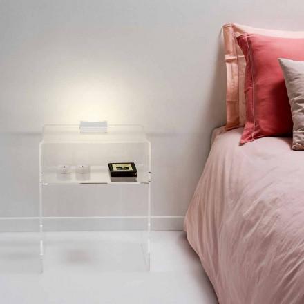 Noční stolek s transparentní LED světlo svítí dotykové Adelia