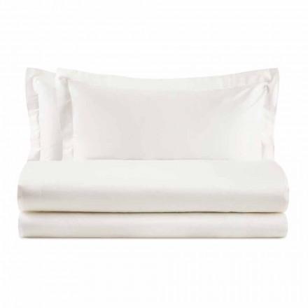 Elegantní sada pro manželskou postel v saténové barevné bavlně - Violetta