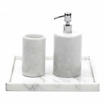 Složení Koupelnové doplňky z bílého mramoru Carrara Vyrobeno v Itálii - Tuono