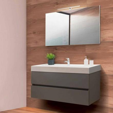 Koupelnová skříňka 120 cm, zrcadlo a umyvadlo - Becky