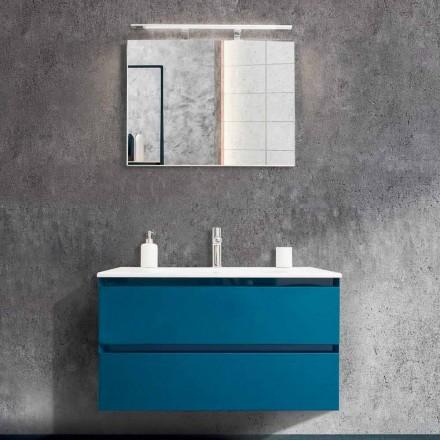Koupelnová skříňka 90 cm, moderní umyvadlo a zrcadlo - Becky